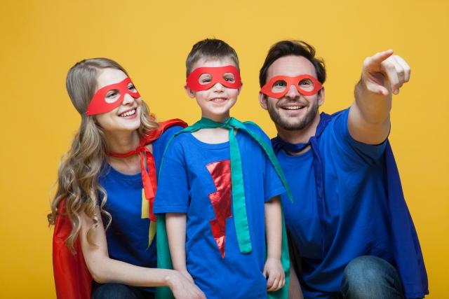 家族でヒーロー